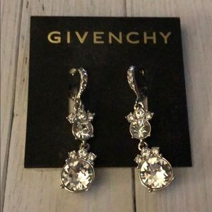 Givenchy Crystal and Silver Earrings